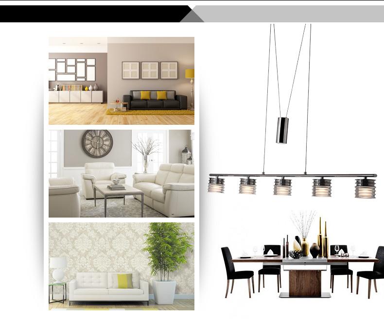 led pendelleuchte deckenleuchte 8090 chrom h henverstellbar 3000k warmwei ebay. Black Bedroom Furniture Sets. Home Design Ideas