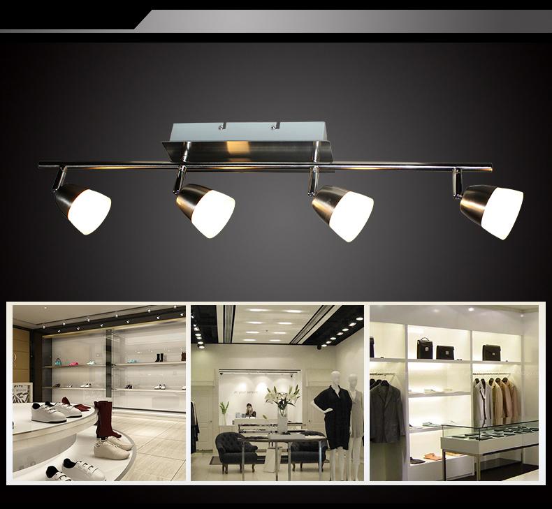 Led deckenlampe sx8228 04a 4x5w deckenleuchte balken for Deckenleuchte led balken