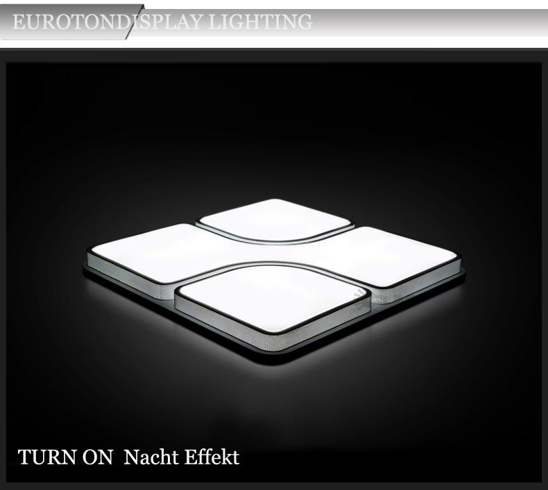 led deckenleuchte 2021 schwarz fernbedienung lichtfarbe helligkeit einstellbar ebay. Black Bedroom Furniture Sets. Home Design Ideas