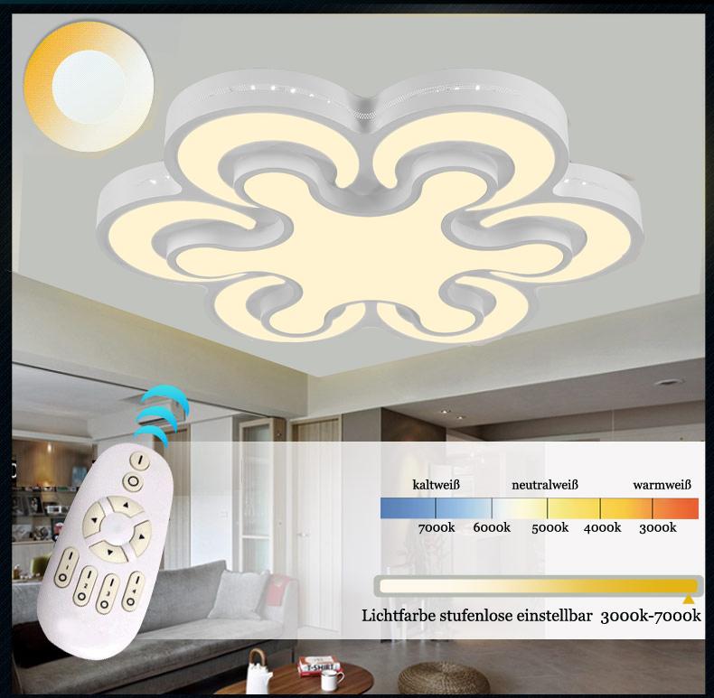 led deckenleuchte 2031 kleeblatt design lichtfarbe helligkeit einstellbar a ebay. Black Bedroom Furniture Sets. Home Design Ideas