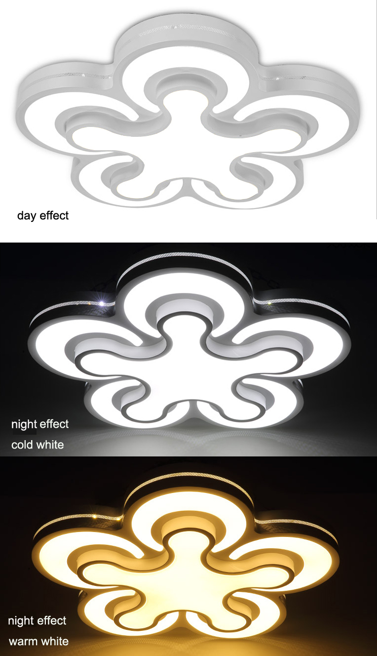 Led deckenleuchte 2031 kleeblatt design lichtfarbe for Deckenleuchte led design