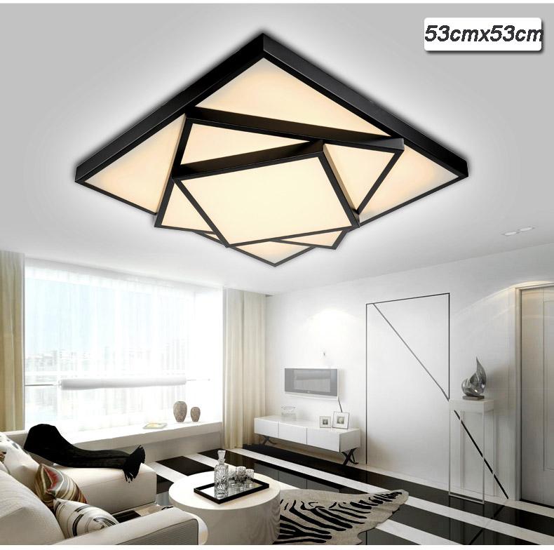 led deckenleuchte 2056 schwarz fernbedienung lichtfarbe helligkeit einstellbar ebay. Black Bedroom Furniture Sets. Home Design Ideas