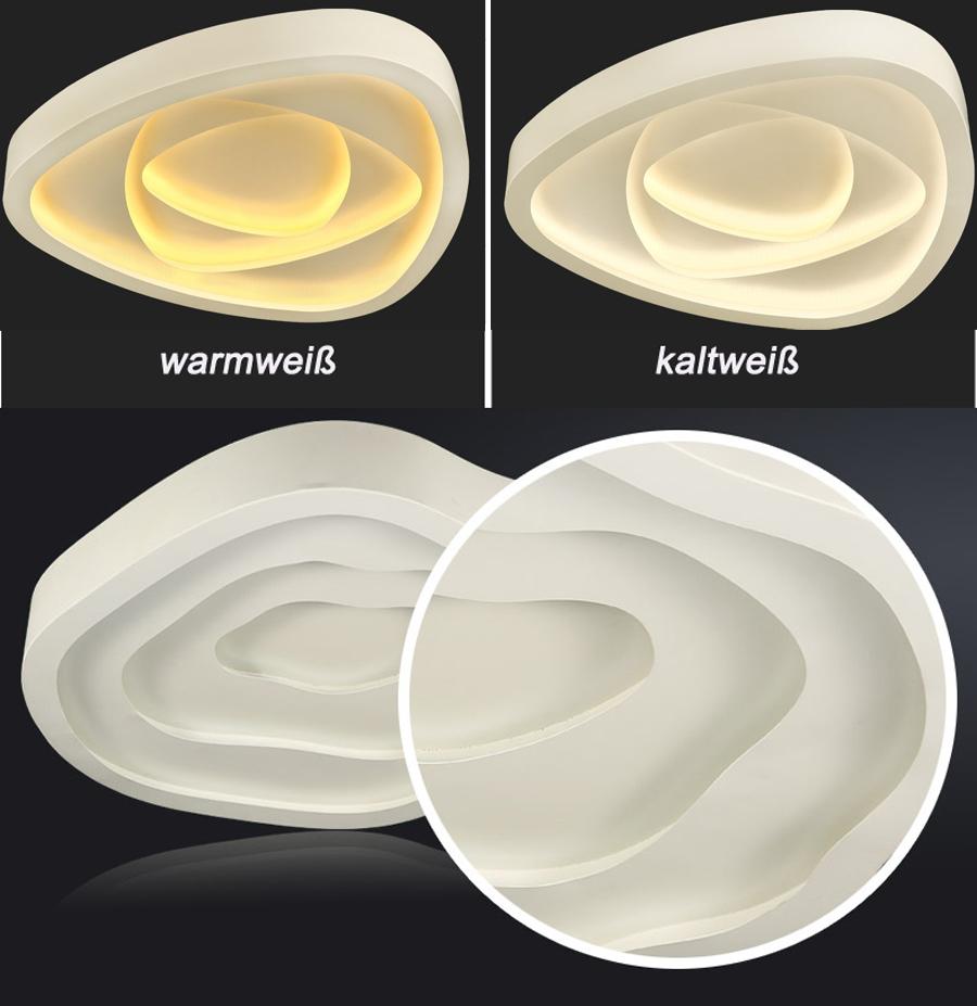 lampada da soffitto LED 2113-60cm 60W Telecomando Colore ...