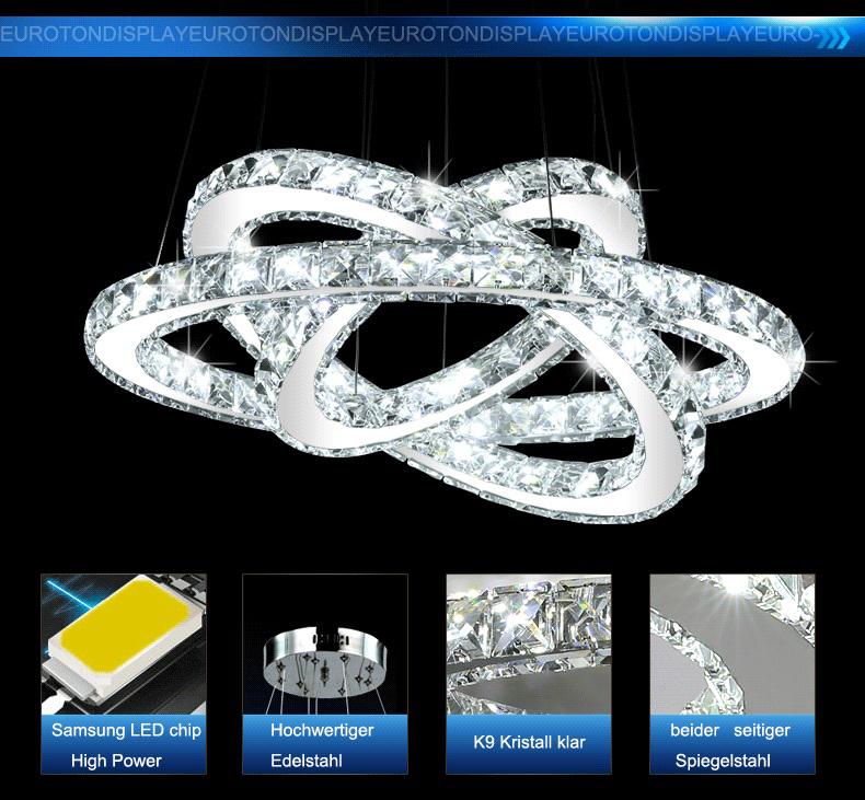 led pendelleuchte 3310wj kristall fernbedienung lichtfarbe einstellbar dimmbar ebay. Black Bedroom Furniture Sets. Home Design Ideas