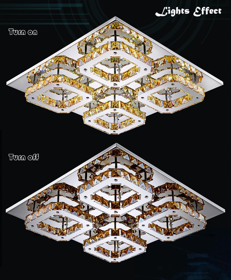 LED Deckenleuchte 5199hp Luxus Design Kristall bernstein ...