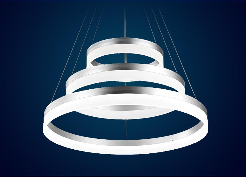 led pendelleuchte 6053 ringe kaltwei 6500k luxus design ebay. Black Bedroom Furniture Sets. Home Design Ideas