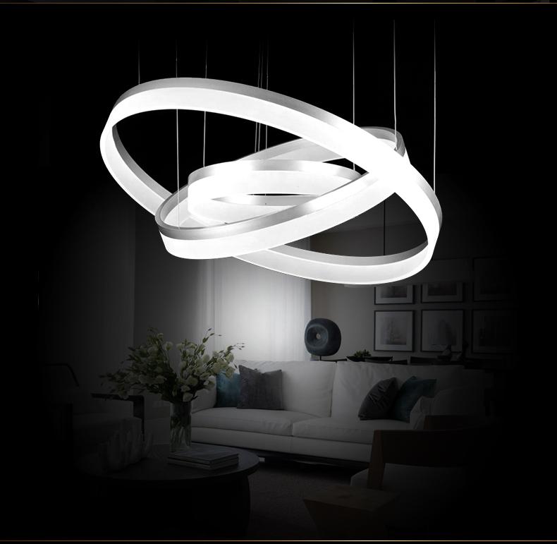 led pendelleuchte 6053 ringe kaltwei 6500k luxus design. Black Bedroom Furniture Sets. Home Design Ideas