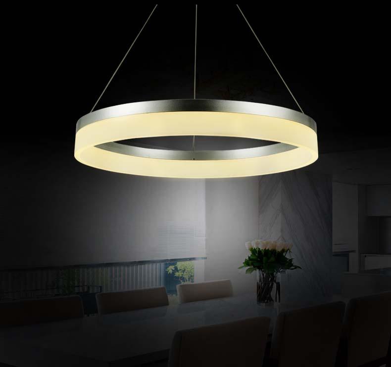 led pendelleuchte 6053 80 60 40cm ringe neutralwei alu rahmen bis 108w a ebay. Black Bedroom Furniture Sets. Home Design Ideas
