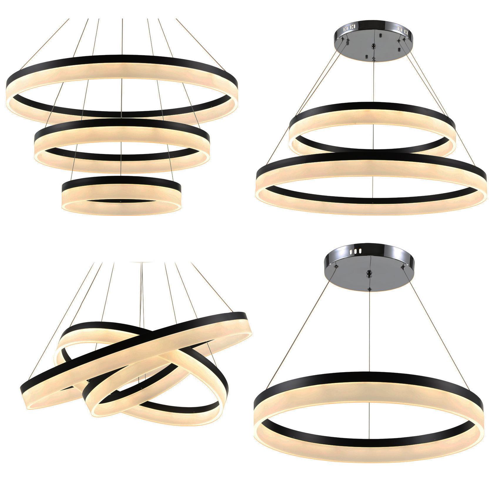 led pendelleuchte 6053 black 80x60x40cm ringe neutralwei alu rahmen bis 108w a ebay. Black Bedroom Furniture Sets. Home Design Ideas