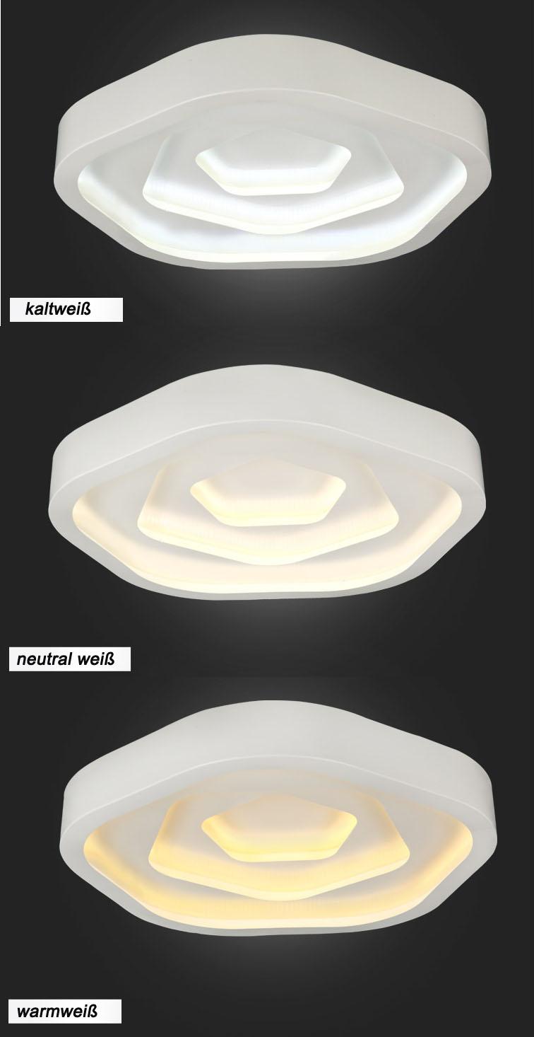 led deckenleuchte 6075mg mit fernbedienung lichtfarbe. Black Bedroom Furniture Sets. Home Design Ideas