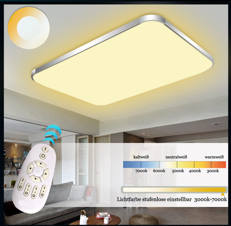 led deckenleuchte 6088 silber gold rahmen lichtfarbe. Black Bedroom Furniture Sets. Home Design Ideas
