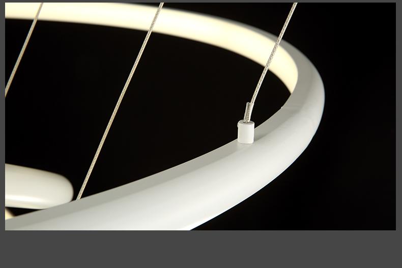 led pendelleuchte 8040 100x80x60cm 3 ringe alu rahmen warmwei luxus design a. Black Bedroom Furniture Sets. Home Design Ideas