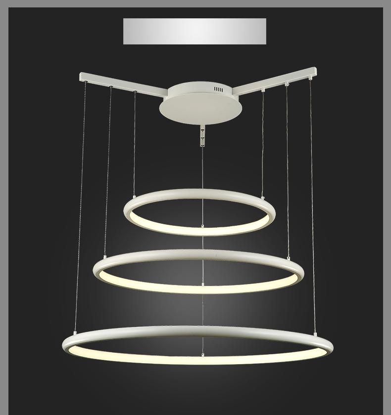 led pendelleuchte 8040 100x80x60cm 3 ringe alu rahmen warmwei luxus design a ebay. Black Bedroom Furniture Sets. Home Design Ideas
