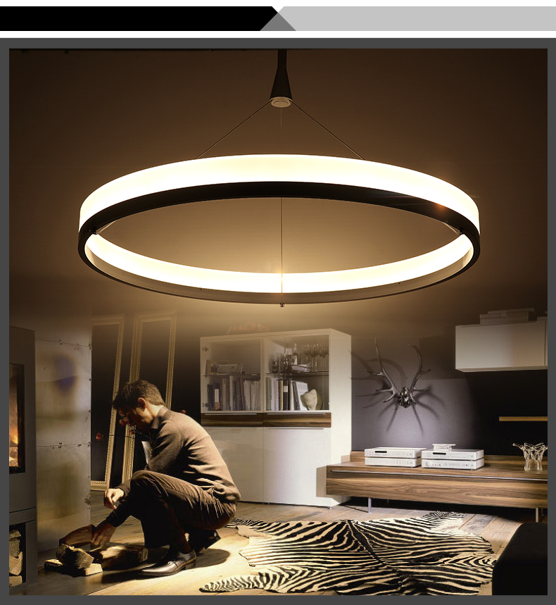 led pendelleuchte p8224 warmweiss 3000k ring 50cm 80cm. Black Bedroom Furniture Sets. Home Design Ideas