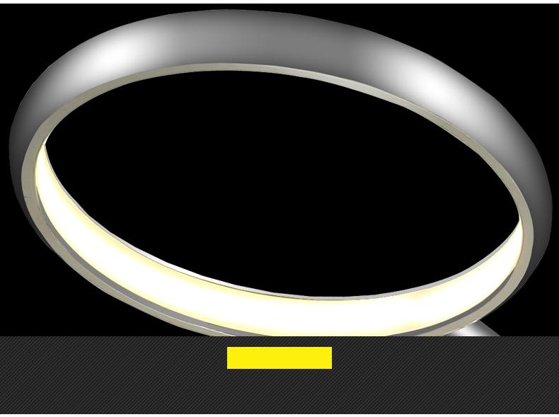 led 8010 6 ringe deckenleuchte chrom warmwei luxus design a modern sparsam ebay. Black Bedroom Furniture Sets. Home Design Ideas