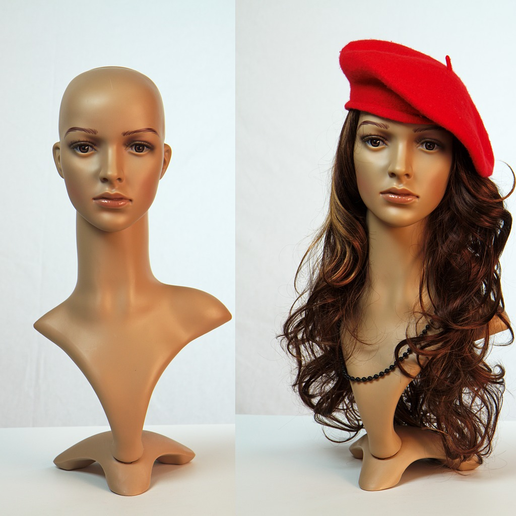 Fd 2 eurotondisplay deco head wig stand display dummy for Mannequin de couture deco