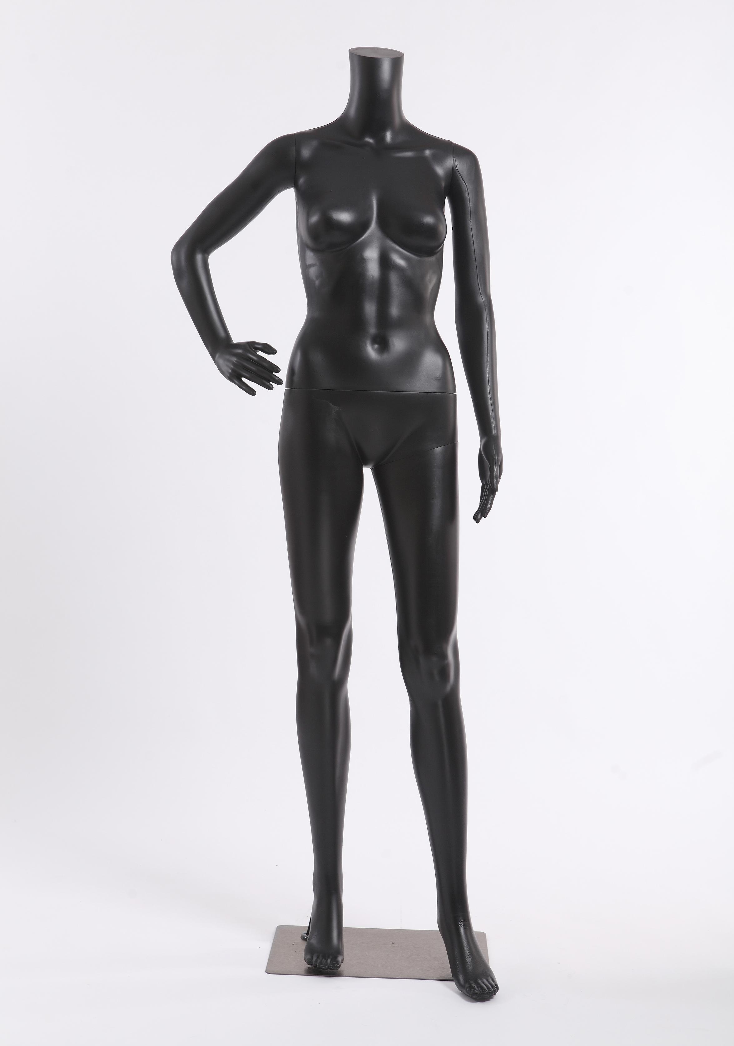 fb11b abstrakt weiblich schaufensterpuppe schwarz matt ohne kopf mannequin new. Black Bedroom Furniture Sets. Home Design Ideas