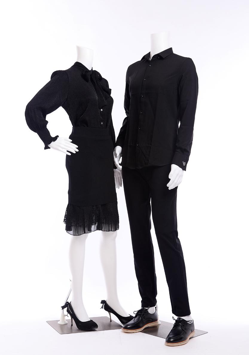 fb11white abstrakt weiblich schaufensterpuppe wei matt ohne kopf mannequin new ebay. Black Bedroom Furniture Sets. Home Design Ideas