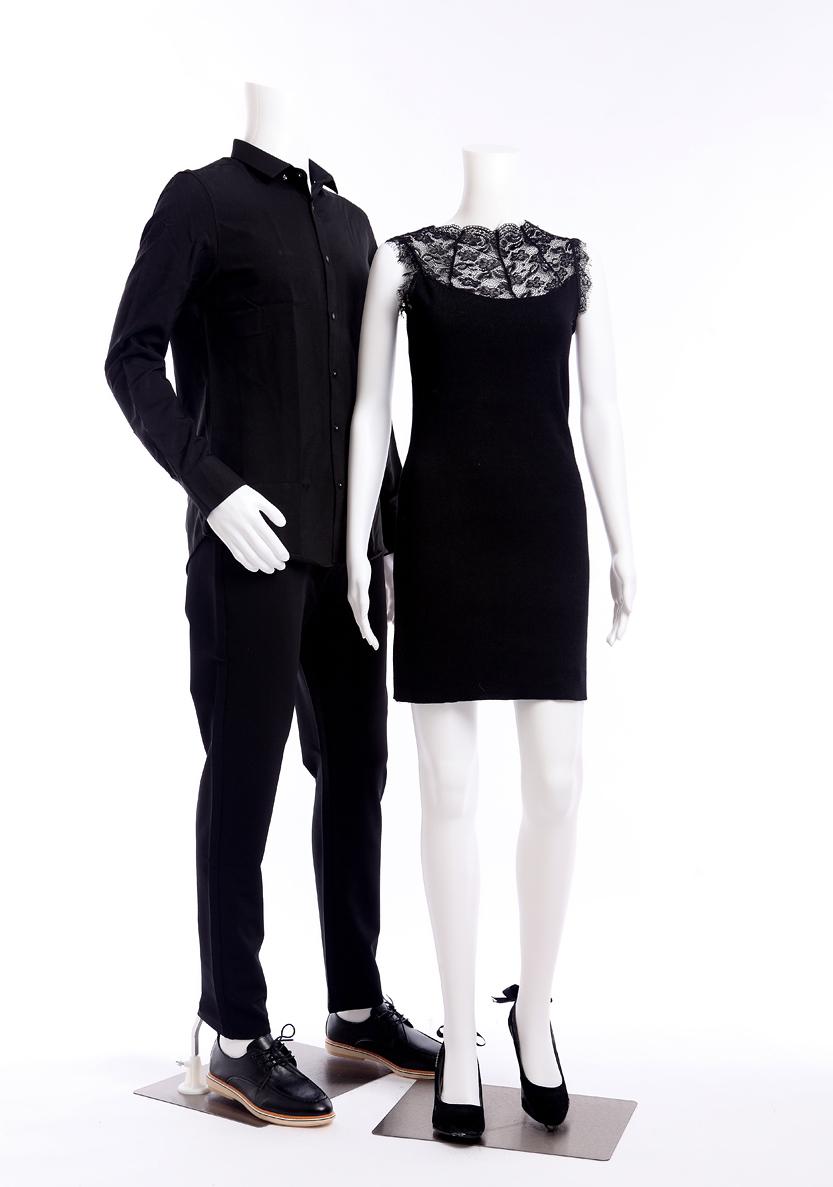 fb 7w wei matt abstrakt schaufensterpuppe mannequin weiblich ohne kopf modern ebay. Black Bedroom Furniture Sets. Home Design Ideas