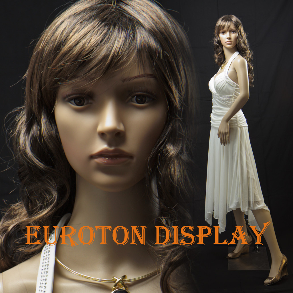 sf 4 euroton display manichino con 2 parrucca gratis femminile mobile ebay. Black Bedroom Furniture Sets. Home Design Ideas