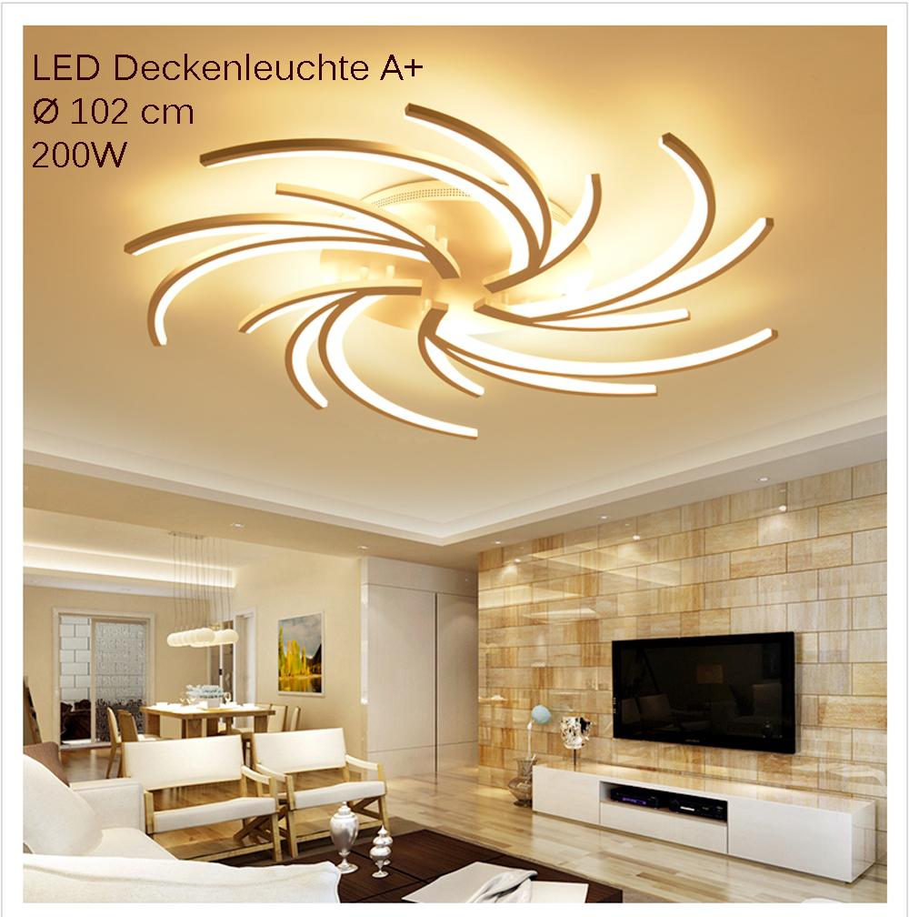 wj2042 5 led deckenleuchte fernbedienung lichtfarbe und. Black Bedroom Furniture Sets. Home Design Ideas