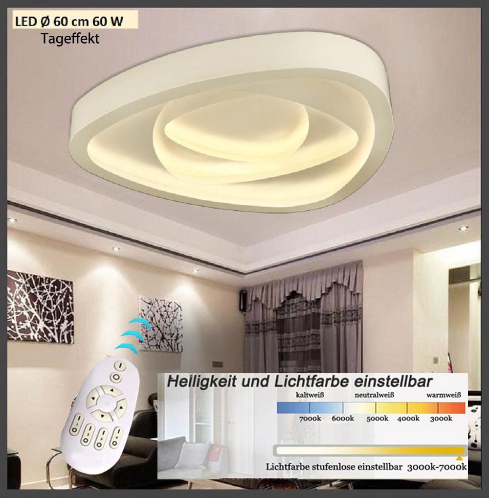 led deckenleuchte 2113 fernbedienung dimmbar lichtfarbe einstellbar a 60w ebay. Black Bedroom Furniture Sets. Home Design Ideas