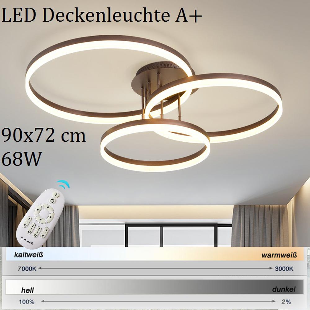 led deckenleuchte pendelleuchte deckenlampe fernbedienung farbton dimmbar a v4 ebay