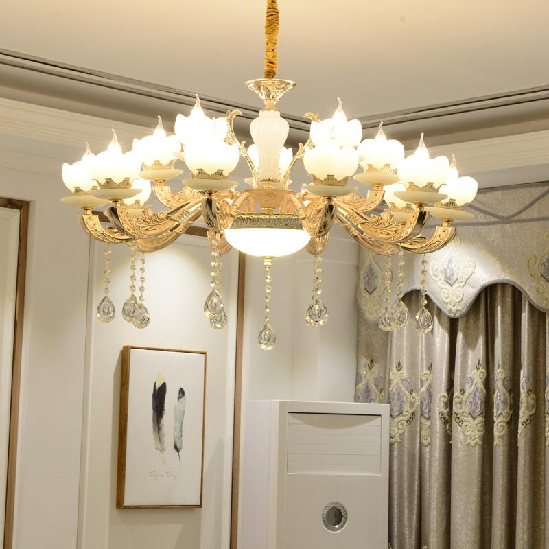 apfel 15 kronleuchter deckenlampe kristall fassung e14 luxuri s neu l ster ebay. Black Bedroom Furniture Sets. Home Design Ideas