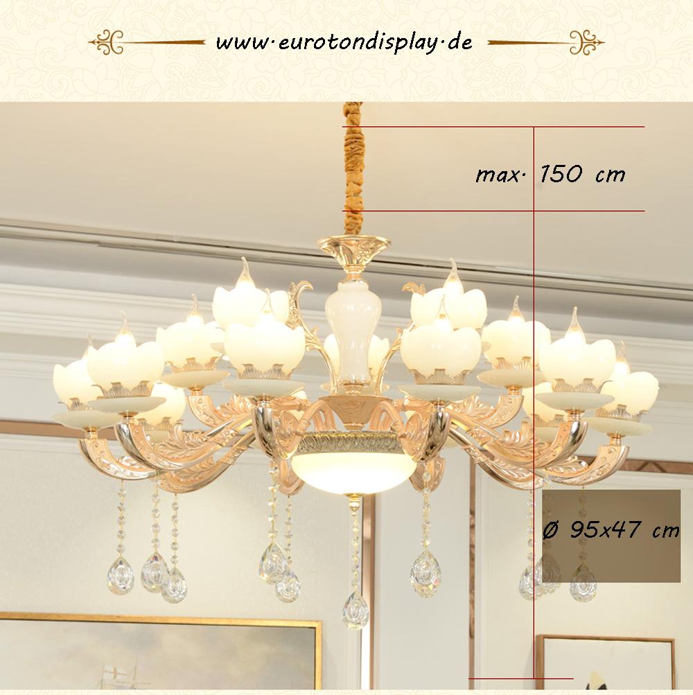 15 apfel kronleuchter deckenlampe kristall fassung e14 luxuri s neu l ster ebay. Black Bedroom Furniture Sets. Home Design Ideas