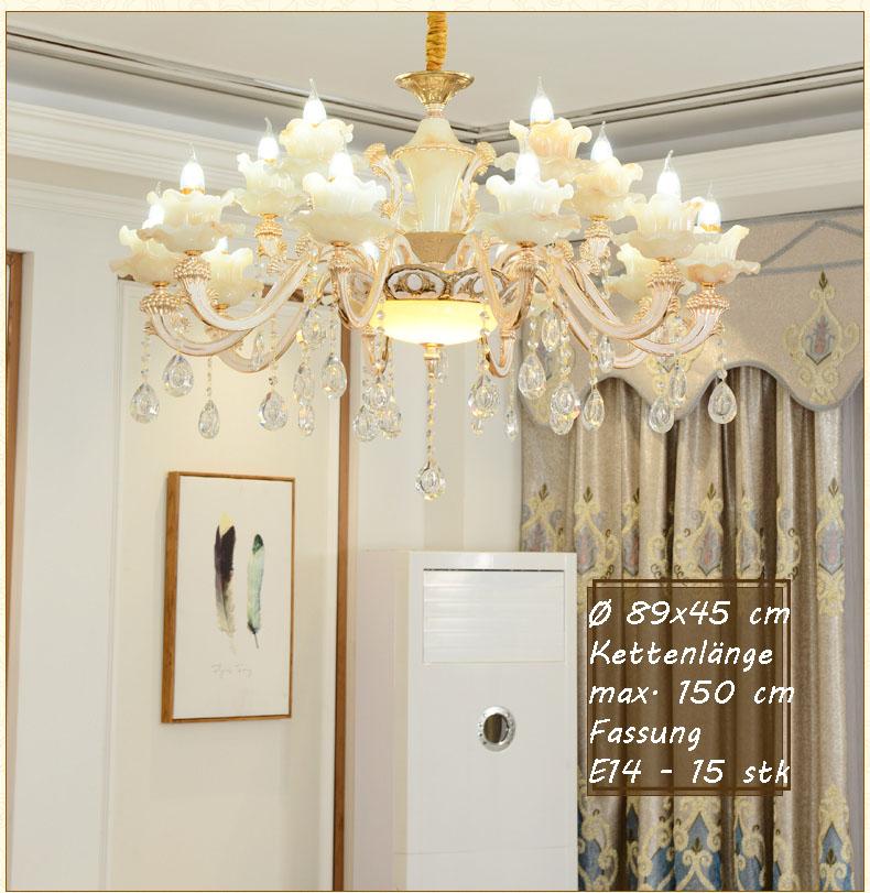 xlh kronleuchter deckenlampe kristall fassung e14 luxuri s neu l ster sch n ebay. Black Bedroom Furniture Sets. Home Design Ideas