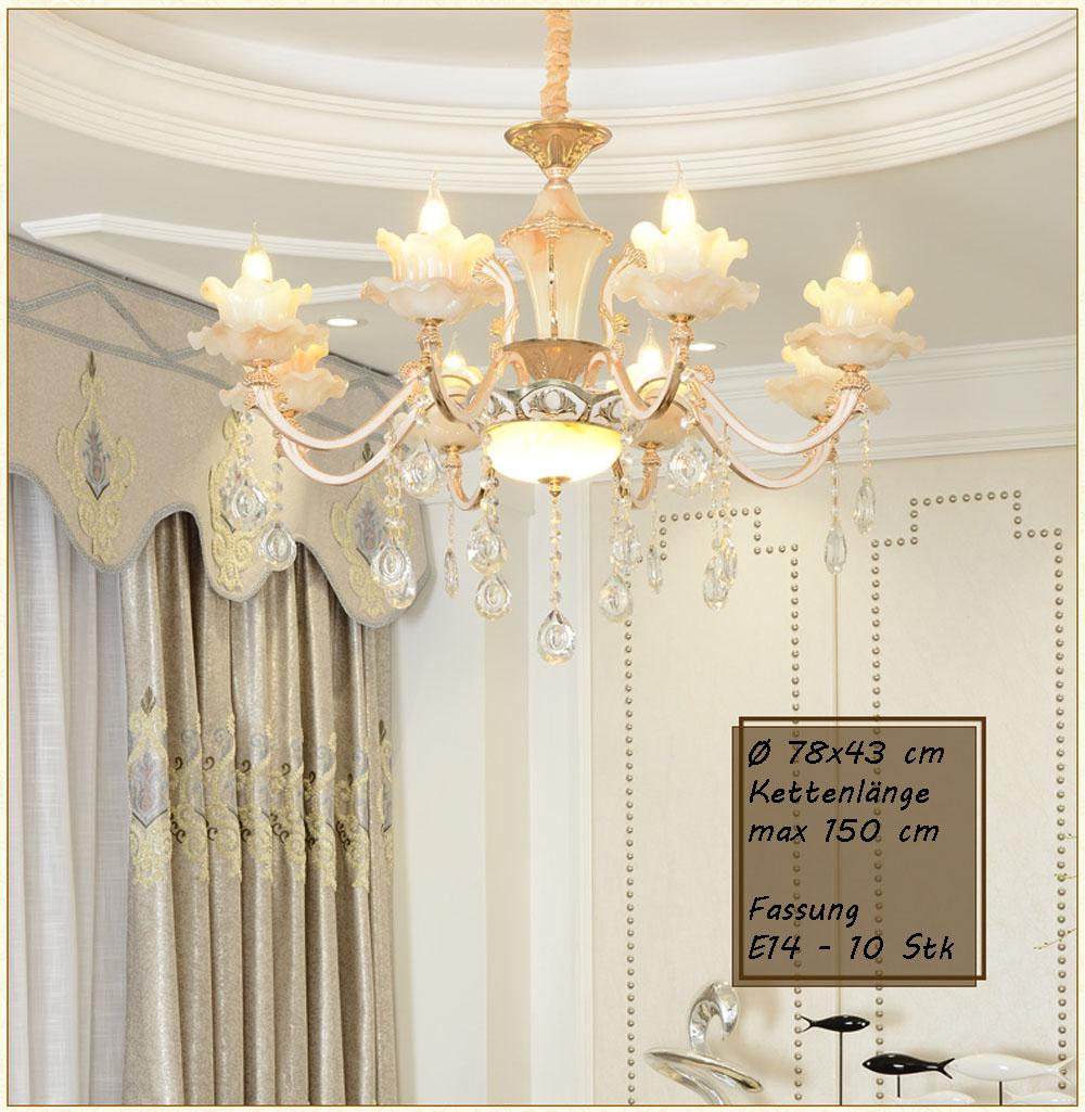 kronleuchter deckenlampe kristall fassung e14 luxuri s neu l ster design gro ebay. Black Bedroom Furniture Sets. Home Design Ideas
