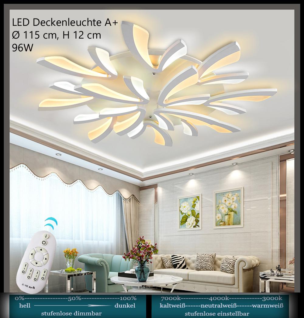 LED Deckenleuchte XW+036 mit Fernbedienung Lichtfarbe//helligkeit einstellbar A+