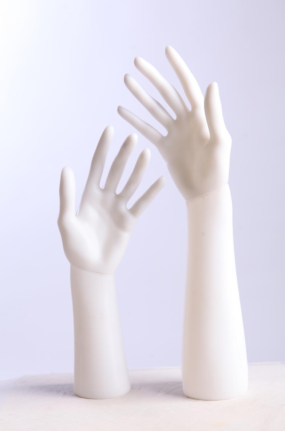 Schmuckhand Hand Schaufensterpuppe hell hübsch arm neu D-3//4Weiß Dekohand