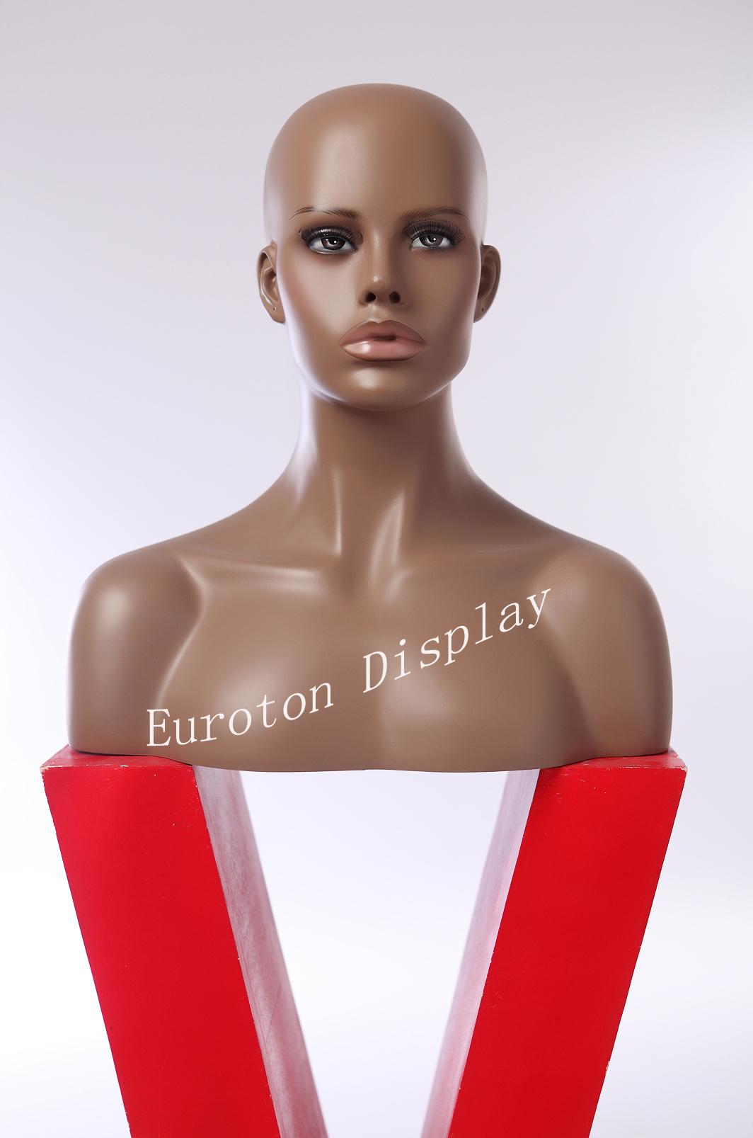 Dekokopf Dunkel Schick neu modern weiblich feminin hübsch kopf HFO Perückenkopf