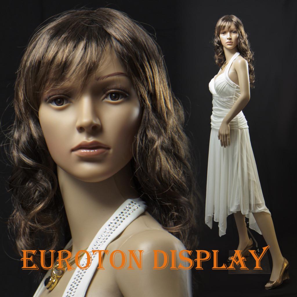 NSF-4 Eurotondisplay Schaufensterpuppe mit 2 Perücke gratis  weiblich beweglich